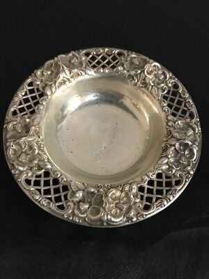 Antique Sterling 6853 JE.Caldwell And Company Round Bowl Candy/peanuts Used