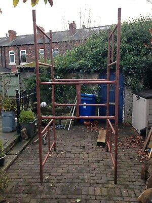 Scaffold Tower about 9 feet high, 1.3m square with feet. Ideal high safe working