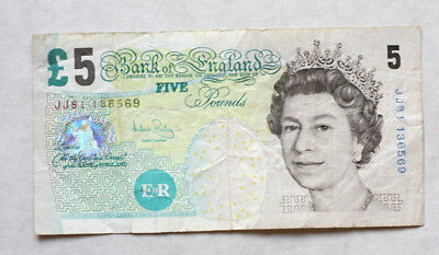 5 Pounds, Bank of Great Britain, 2002.