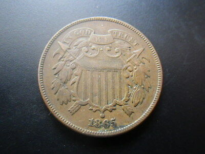 . United States 1865 2 Cents (gFine)               ...(1)............