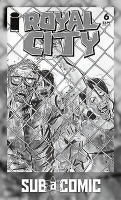 ROYAL CITY #6 COVER D B&W WALKING DEAD #16 TRIBUTE VARIANT (IMAGe 2017) COMIC