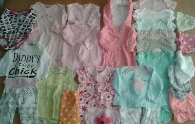 24 peice Baby Girl lot - Size NB 0/3 Month  24 Pc Winter Spring Clothing
