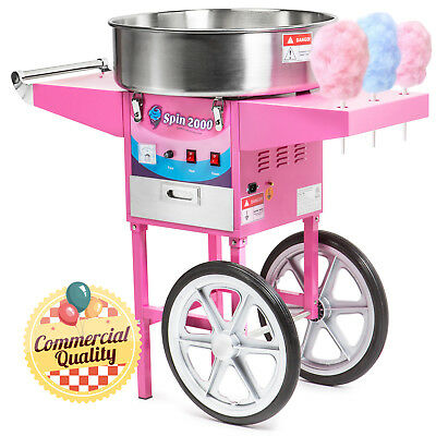 OPEN BOX - Cotton Candy Machine Cart and Electric Candy Floss Maker - Commercial