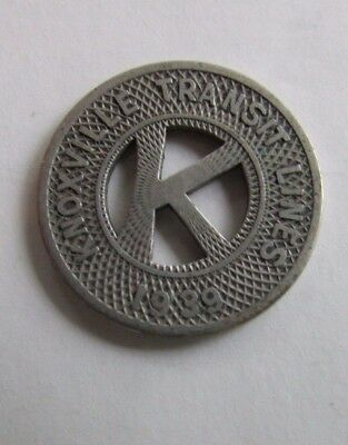 Knoxville Transit Token - 1939 - Good For One Fare