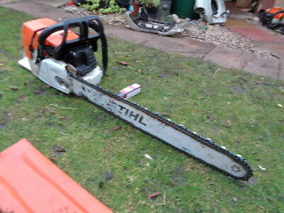 """Stihl Ms460 2011 Chainsaw Just Serviced 25"""" Bar And New Chain Very Powerful"""
