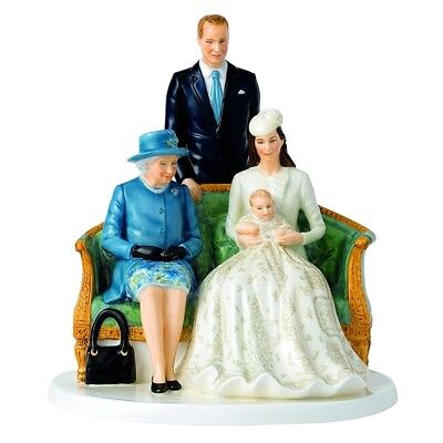 Royal Doulton Her Majesty Queen Elizabeth A Royal Christening Figurine Signed