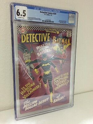 Detective Comics #359 CGC 6.5 1st Appearance Of Batgirl! OW Pages