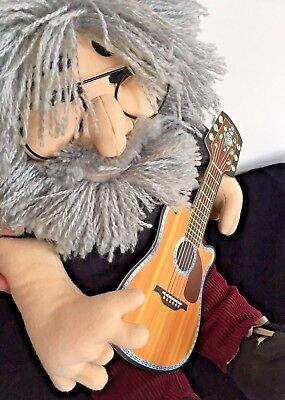 "JERRY GARCIA 18"" Plush DOLL & GUITAR by Gund for Liquid Blue 1998 Grateful Dead"