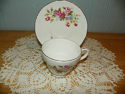 Duchess Bone China Tea Cup and matching saucer Floral Design Made in England