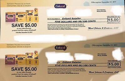$10 Worth of Enfamil Coupons Exp 12/31/17