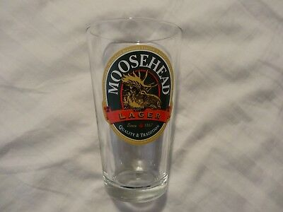 Moosehead 1867 Lager Beer Pint Glass Glass