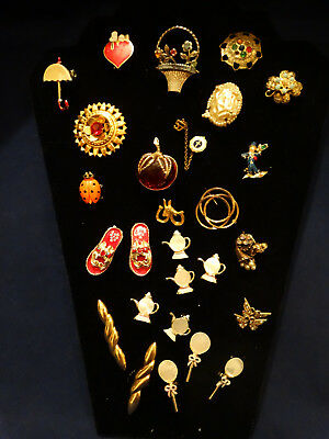 Antique Lot of 30 Assorted Pins and Scatter Pins