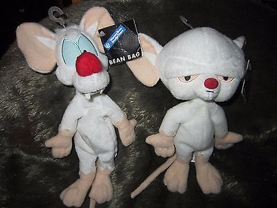Pinky and the Brain Stuffed Bean Bag Collectibles (a set - NWT)