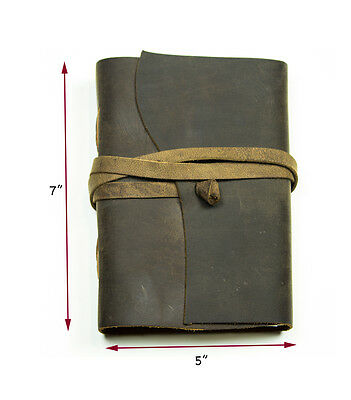 Journal Leather Notebook Diary Blank Handmade Vintage Book Bound  Travel Journal