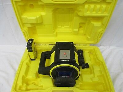 Leica Rugby 810 Self Leveling Rotating Rotary Laser W/ Rod Eye 140 Detector