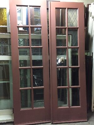 "Old French Doors 24"" X 80""10 Light 48""total Open"