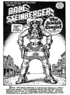 R. Crumb Dale Steinberger the Jewish Cowgirl - Large Postcard