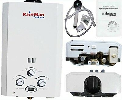 Best Rated 2 GPM Portable Tankless Water Heater Outdoor Shower LPG - 2 DAY SALE