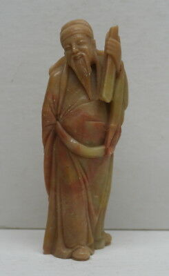 Vintage Chinese Carved Soapstone Figure #6