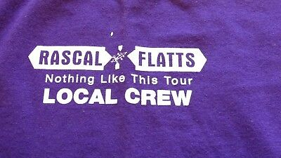 "RASCAL FLATTS ""Nothing Like This"" Tour Local Crew Shirt Size XL"