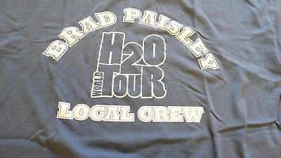 "BRAD PAISLEY ""H2O"" World Tour Local Crew Shirt Size XL"