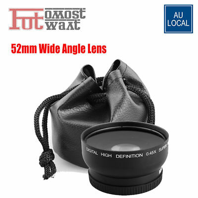 52mm 0.45x Wide Angle & Macro Conversion Lens FOR Nikon D3100 D3200 D3500 D3400