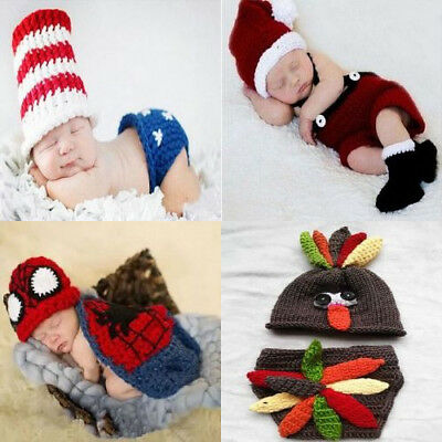 Fashion Crochet Knitted Outfits Costume Set Photography Photo Pro For Unisex