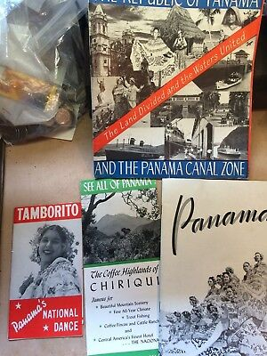 Lot of Four Vintage Brochures for Panama    Tamborito, Canal Zone 1944 1947