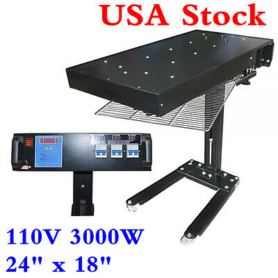 "24"" x 18"" 3000W Flash Dryer Silkscreen T-shirt Printing Curing Adjustable Height"