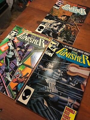 Marvel Comics The Punisher # 1 , 1&2 Limited Series Vg