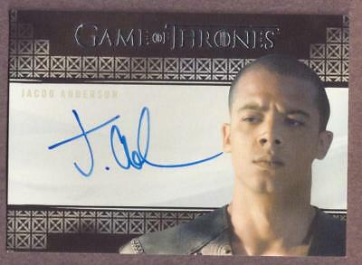 2017 Game of Thrones Valyrian Steel Jacob Anderson as Grey Worm Autograph Card