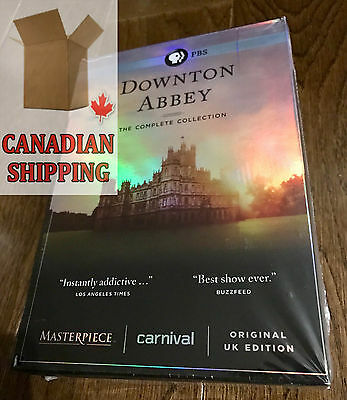 Downton Abbey: The Complete Collection Seasons 1-6 Series BOXSET (DVD, 2016)