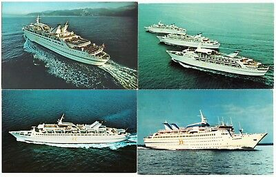 Norwegian Caribbean Lines Cruise Ship Lot of 4 Postcards 1970s