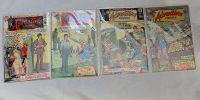 Lot of 4 Low-Mid Grade DC Silver Age Adventure Comics (Supergirl)388-393