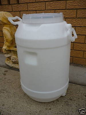 60 Litre Plastic Heavy Duty Water Drum Storage Container Camping Fishing Canoe
