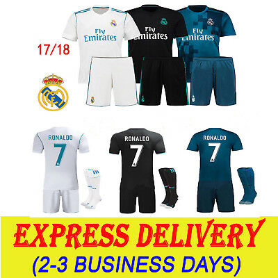 2017-18 Football Soccer Jersey Short sleeve Kits kids Sportswear Suit+Socks Set