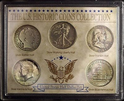 U.S. Historic Coins Collection Silver Half Dollar Set ☆☆ Circulated ☆☆