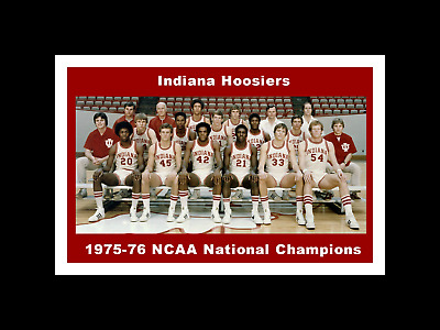 INDIANA HOOSIERS MATTED PIC OF 1987 NCAA BASKETBALL CHAMP TEAM//FINALS TICKET #2