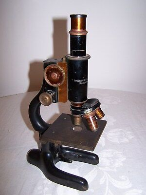 Vintage Bausch & Lomb Laboratory Microscope - Steampunk, brass, cast iron 1920's
