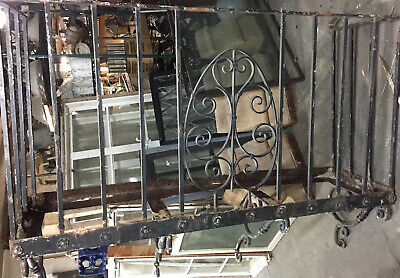 "Spanish Revival Iron Window Balcony 69""x30x20"