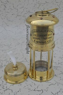 "New 7"" Antique Brass Vintage Style Nautical Miner Ship Lantern Oil Lamp Maritime"