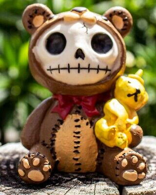 FurryBones Honey Bear Figurine Teddy Cool Gift Skeleton Skull Gothic Ornament