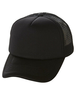 New Swell Men's Mesh Back Trucker Cap Mesh Black