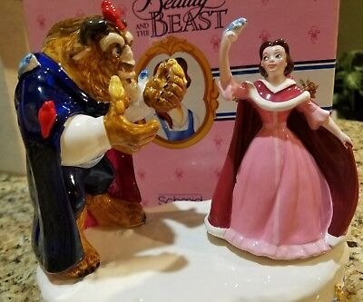 Vintage Disney Beauty And The Beast Schmid Porcelain Music Box NEW IN BOX  RARE*