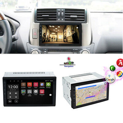 2Din 7'' WiFi Car Radio MP5 Player GPS Navigation 16G USB AM FM RDS Android 6.0