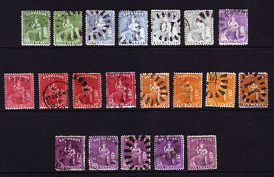 BARBADOS. SG 72-83, 1/2d to 1/-. USED.