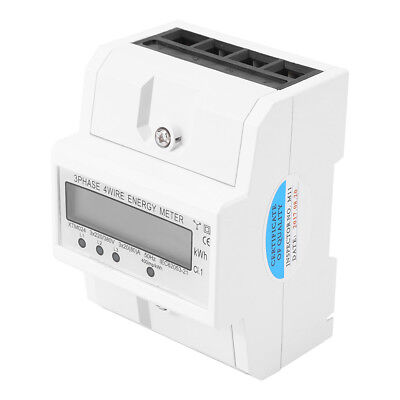 1pcs Digital LCD 3-phase Four-wire DIN-Rail KWH Energy Meter 50Hz 3x20(80A)