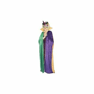 Forum Full Length Mardi Gras Cape,Green/Gold/Purple,Adult