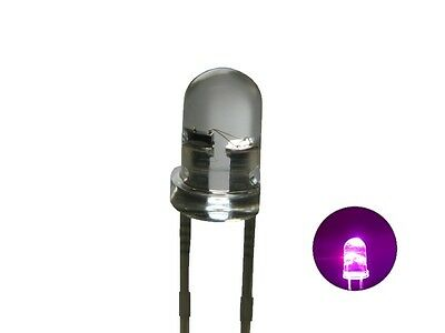 S249 - 20 Piece Flickering LEDs 3mm Pink Clear Flickering with Control