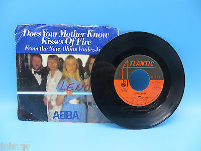 Abba - Does Your Mother Know / Kisses of Fire 45 RPM Record